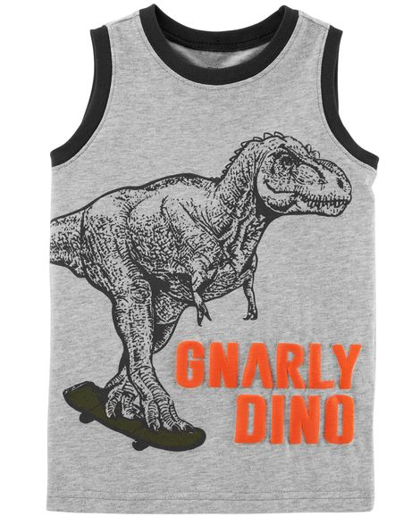 Camiseta sem Mangas Gnarly Dino Carter's