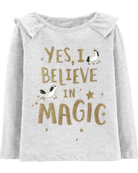 Camiseta Yes, I Believe Carter's