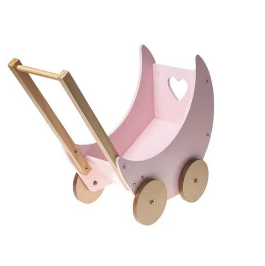 Carrinho de Boneca Bup Baby Rosa