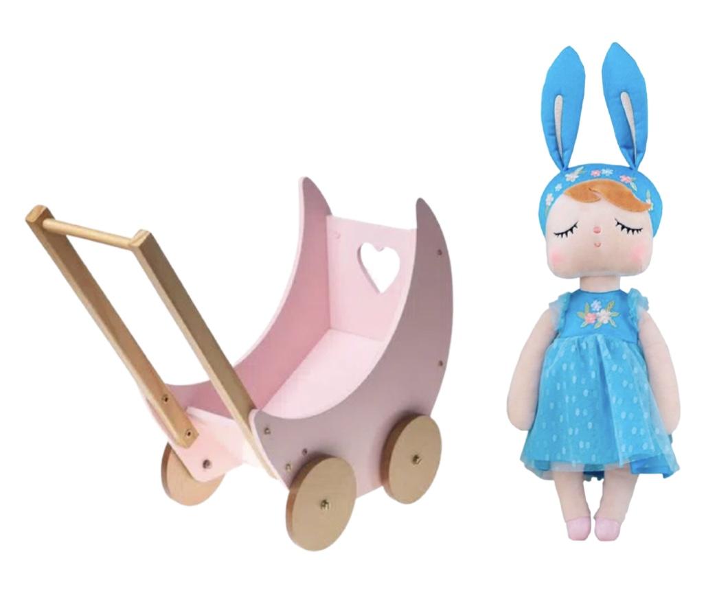 Carrinho e Boneca Metoo Angela Princess Azul