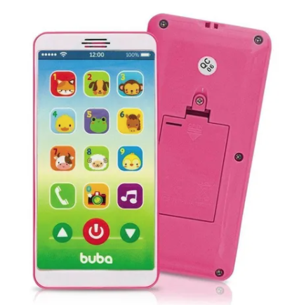 Celular Infantil Baby Phone Buba Rosa