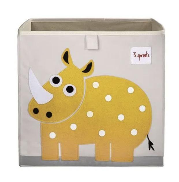 Cesto Organizador Infantil 3 Sprouts Quadrado Rhino