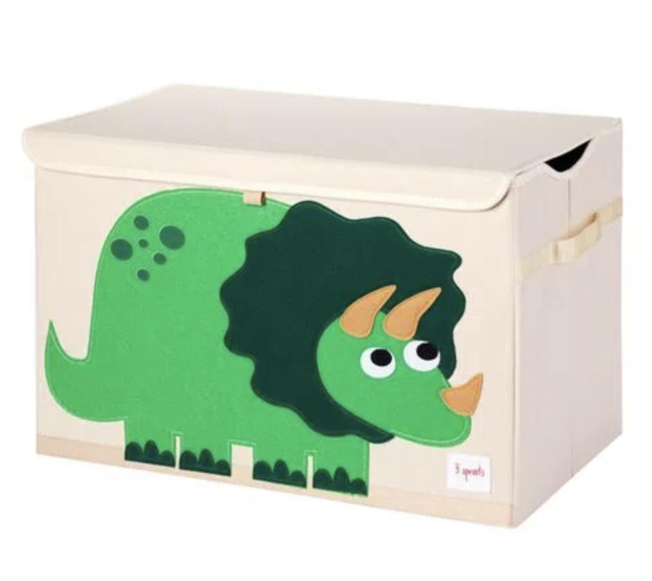 Cesto Organizador Infantil 3 Sprouts Retangular Dino