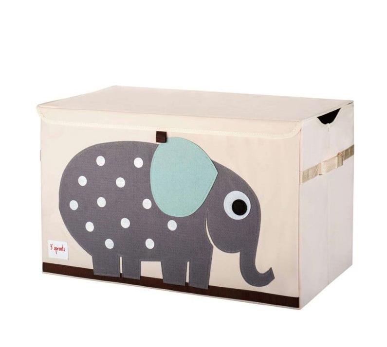 Cesto Organizador Infantil 3 Sprouts Retangular Elefante