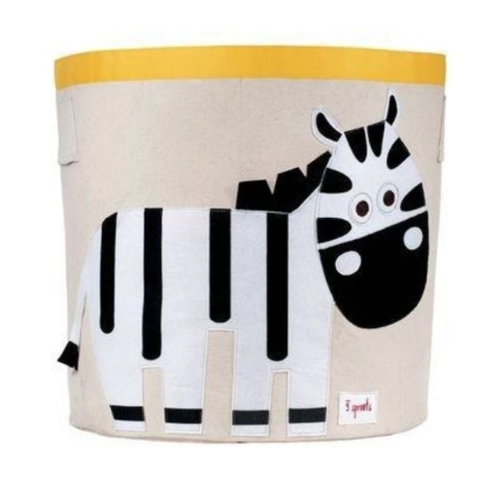 Cesto Organizador Infantil 3 Sprouts Redondo Zebra