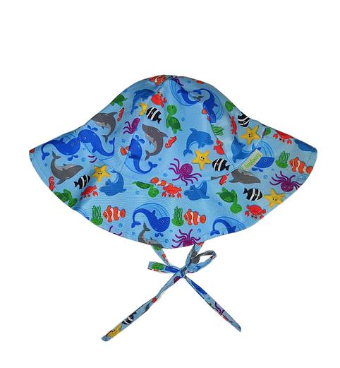 Chapéu de Praia Ecoplay FPS 50+ Fundo do Mar