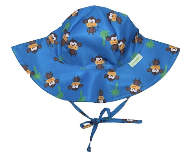Chapéu de Praia Infantil Ecoeplay Macaco com FPU 50+