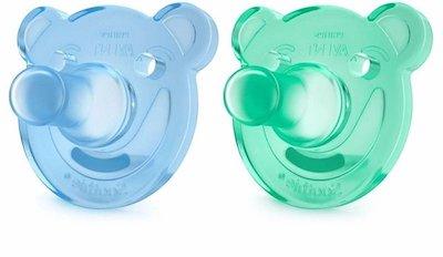 Chupeta Philips Avent Soothie Shapes Ursinho Azul/Verde 0-3m