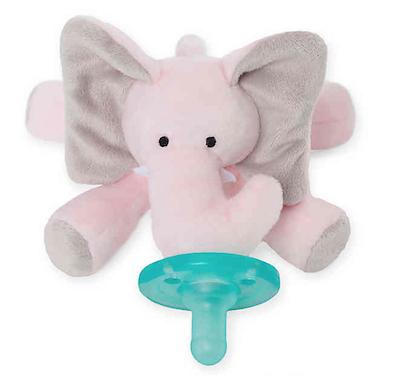Chupeta WubbaNub Naninha Elefante Rosa