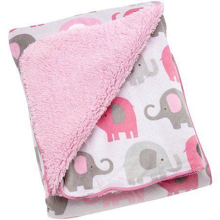 Cobertor Elefantinhos Rosa Little Bedding