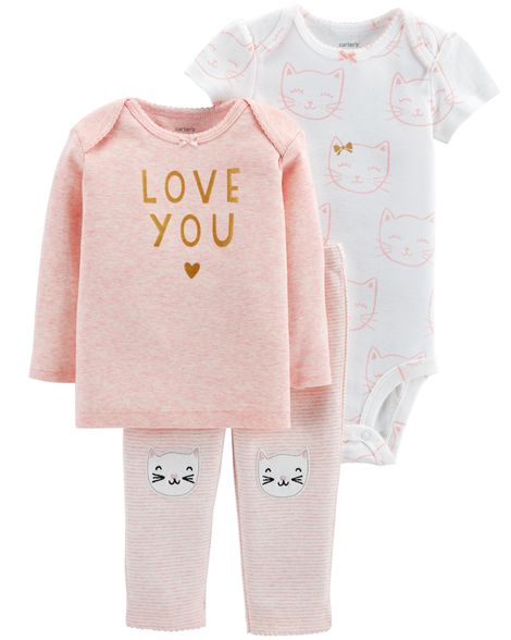 Conjunto Gatinha Love You Carter's