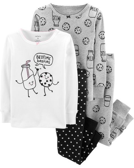 Pijama Bed Time Besties Kit c/4 Peças Carter's