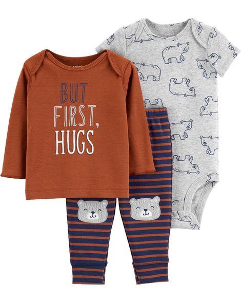 Conjunto But First, Hugs Carter's