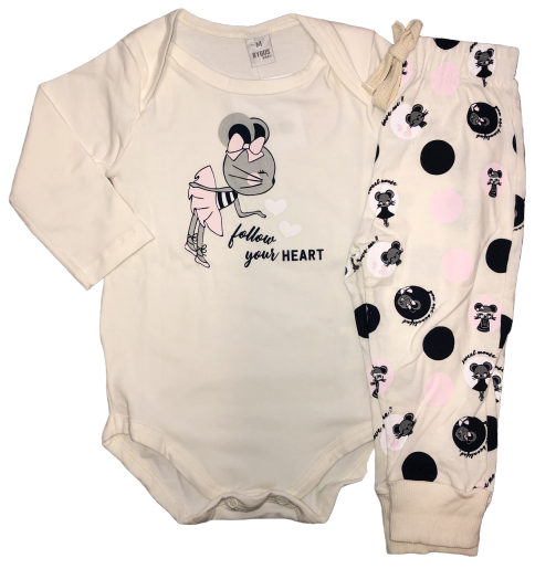 Conjunto By Gus Follow Your Heart Creme