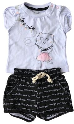Conjunto By Gus Too Cute Gatinha Branco