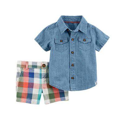 Conjunto Camisa Jeans Carter's