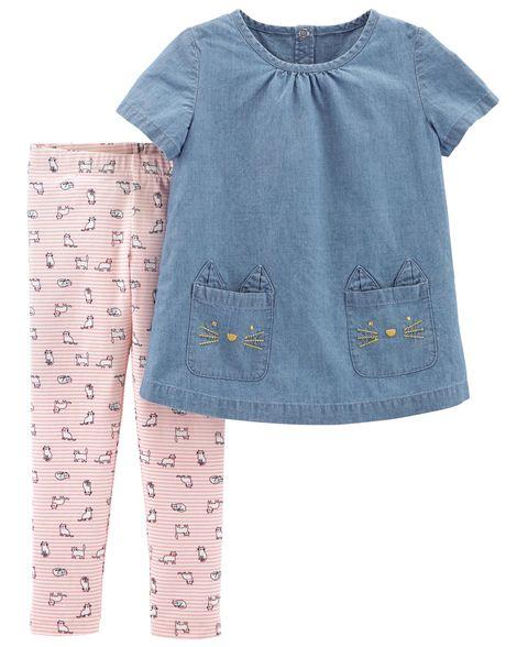 Conjunto Jeans Gatinha Carter's