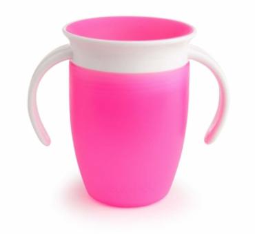 Copo de Treinamento Munchkin 360 Pink c/ Alças