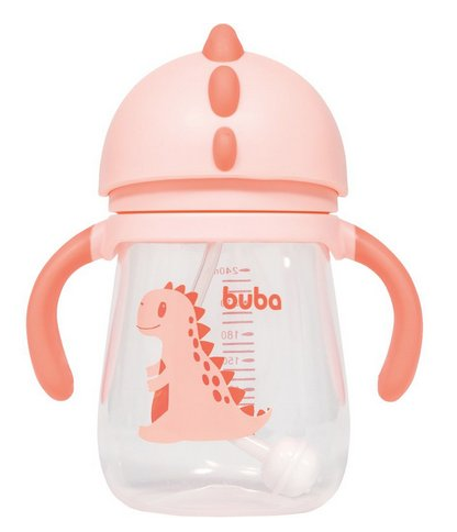 Copo Dino Buba Baby Rosa