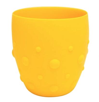 Copo em Silicone para Treinamento Marcus & Marcus com Grip Girafa Amarelo