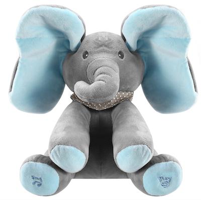 Elefante Peek-a-Boo Musical Azul