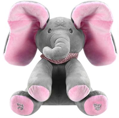 Elefante Peek-a-Boo Rosa