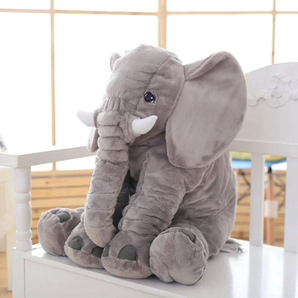 Elefante Travesseiro 60cm Cinza