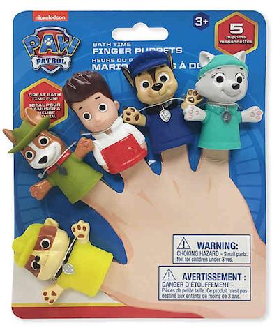 Fantoche de dedo Patrulha Canina Nickelodeon