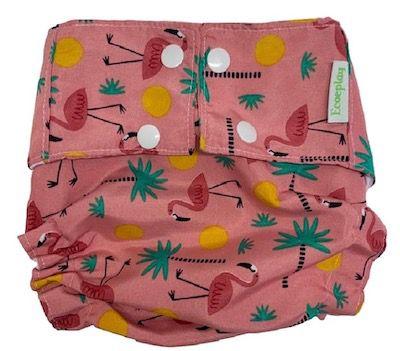 Fralda Ecológica Reutilizável Ecoeplay FlamingoTamanho Único