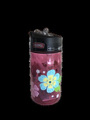 Garrafa Plástica Thermos Floral 355ml