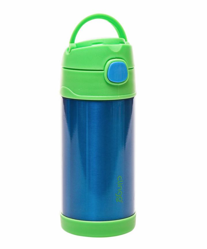 Garrafa Térmica Inox Azul Verde Clingo