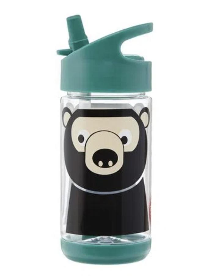 Garrafinha de Tritan com Canudo 3 Sprouts Urso