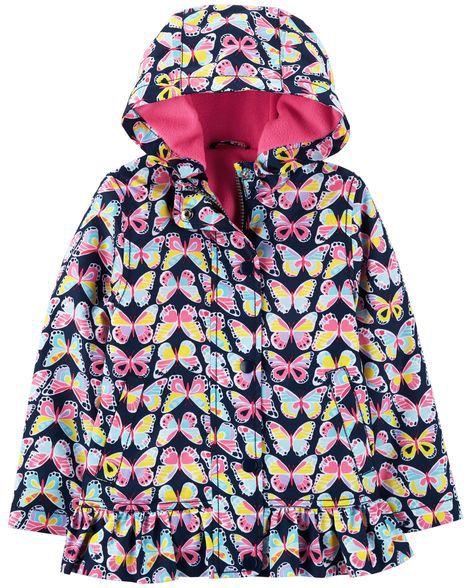 Jaqueta de Nylon com Fleece Borboletas  Carter's