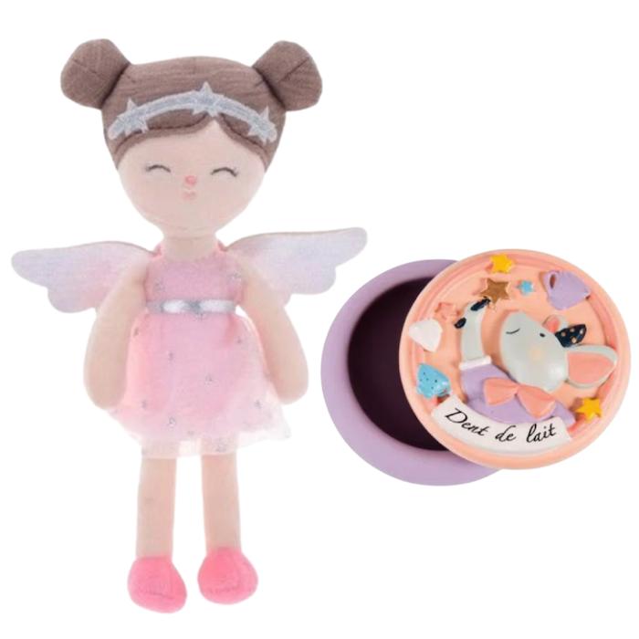 Kit Fada do Dente Girl Bup Baby e Porta Dentinhos Moulin Roty