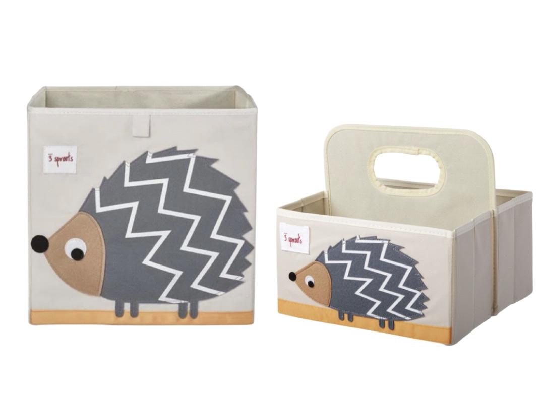 Kit Organizador Quadrado e Porta Fraldas Porco Espinho 3 Sprouts