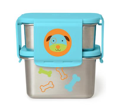 Kit para Lanches em Aço inoxidável Skip Hop Zoo Cachorro