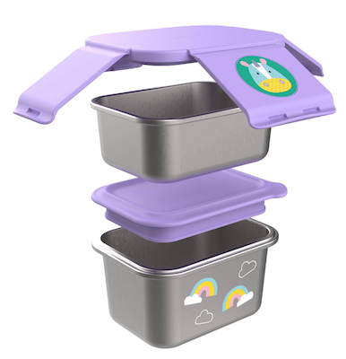 Kit para Lanches em Aço Inoxidável Skip Hop Zoo Unicórnio