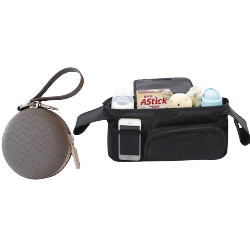 Kit Porta Chupetas e Organizador de Carrinhos Clingo