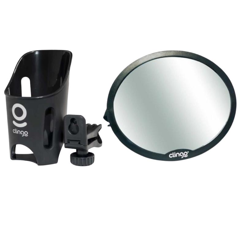 Kit Porta Copos e Espelho Redondo Clingo