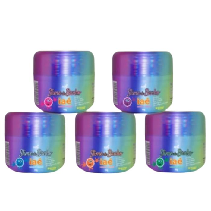 Kit Slime de Banho 5 Potes Coloridos Iaé
