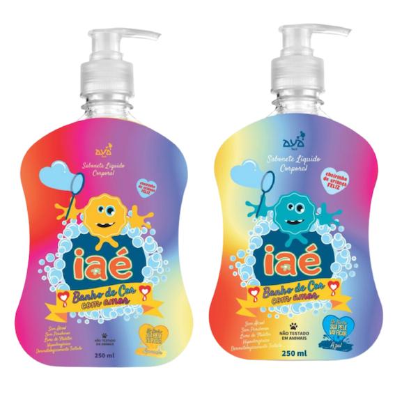 Kit Slime de Banho Sabonete Líquido Laranja e Azul Iaé