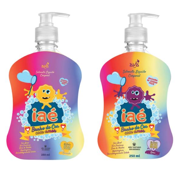 Kit Slime de Banho Sabonete Líquido Laranja e Roxo Iaé