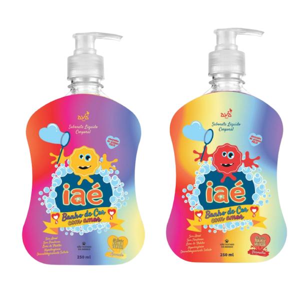 Kit Slime de Banho Sabonete Líquido Laranja e Vermelho Iaé