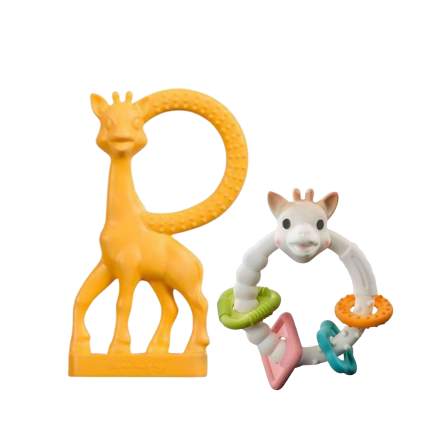 Kit Sophie La Girafe Vanilla Laranja e Sophie Argolas