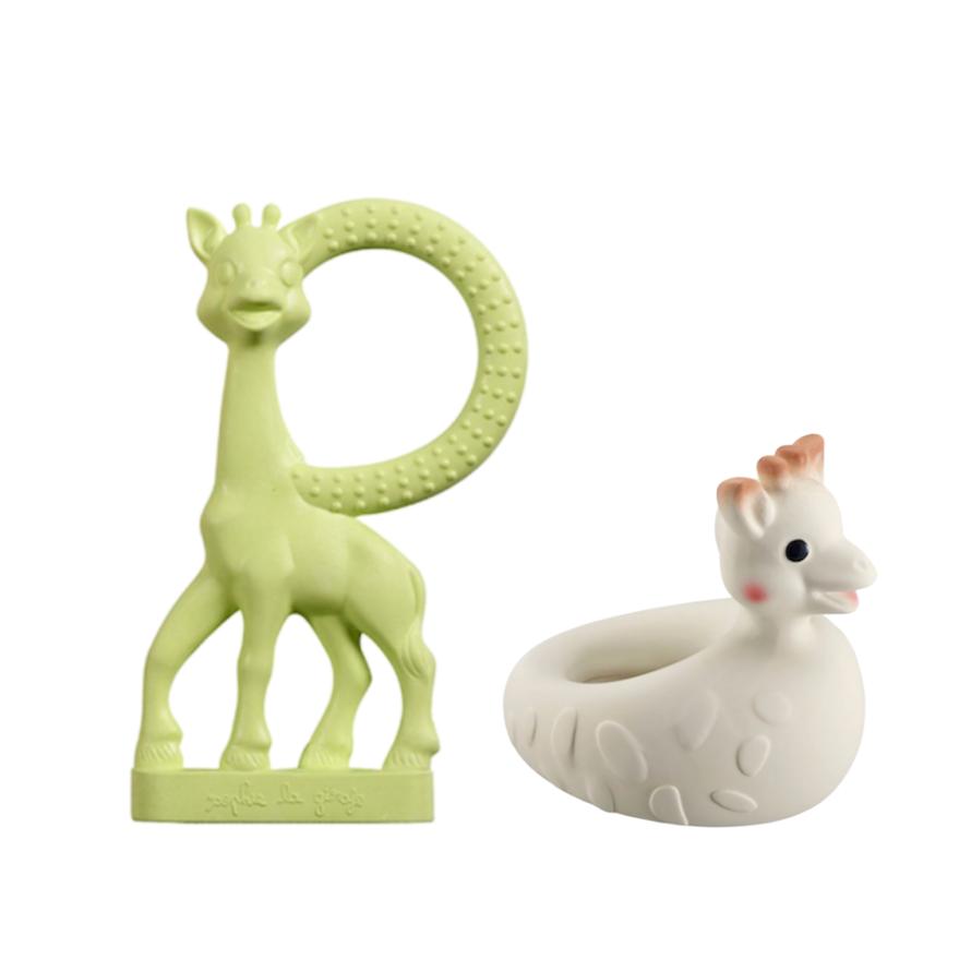 Kit Sophie La Girafe Vanilla Verde e Sophie de Banho