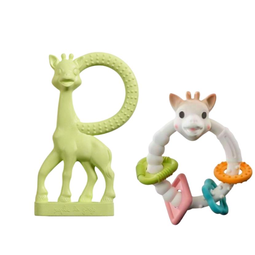 Kit Sophie La Girafe Vanilla Verde e Sophie Aros