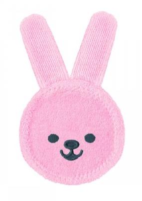 Luva para Cuidado Oral MAM Rabbit Rosa 0M+