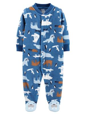 Macacão Azul Urso em Fleece Carter's