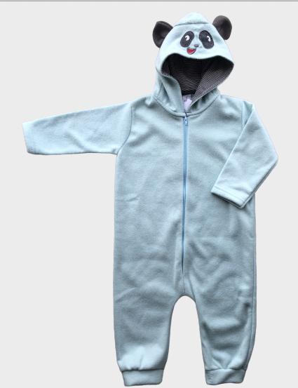 Macacão By Gus em Fleece Azul Claro