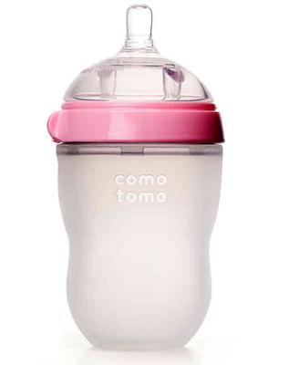 Mamadeira Comotomo Rosa 250ml 3M+
